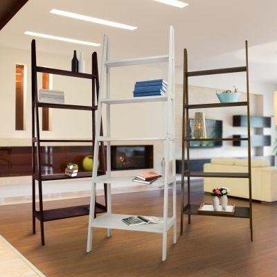 5-Shelf Ladder Bookcase Life Style