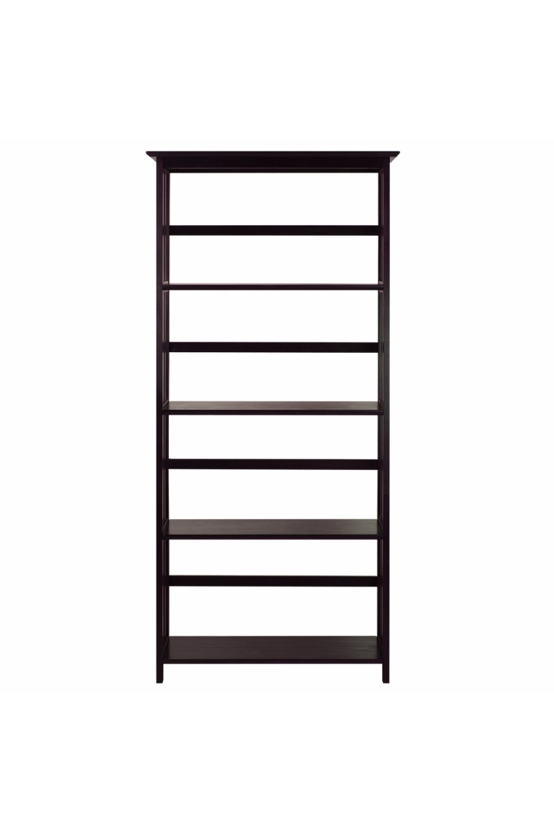 mission style 5 shelf bookcase casual home. Black Bedroom Furniture Sets. Home Design Ideas