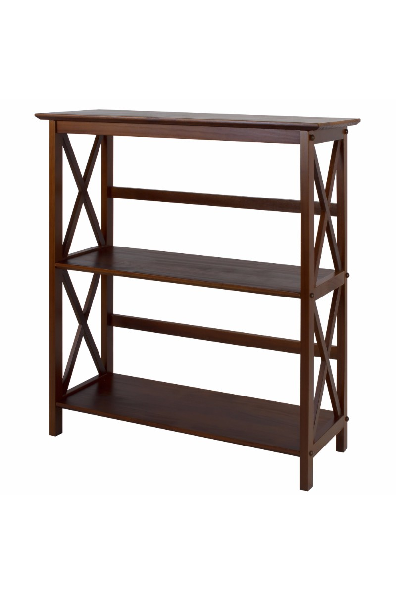 montego style 3 shelf bookcase casual home. Black Bedroom Furniture Sets. Home Design Ideas