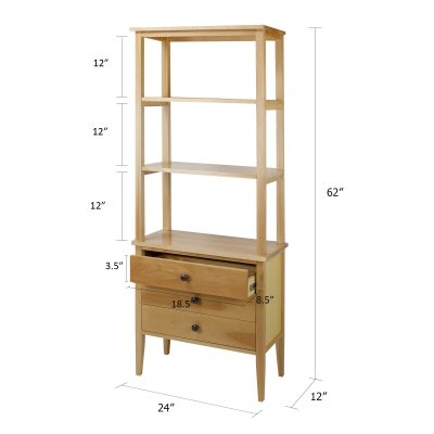 Edison Bookcase with Drawers Dimensions