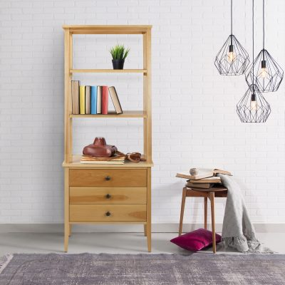 Edison Bookcase with Drawers life style