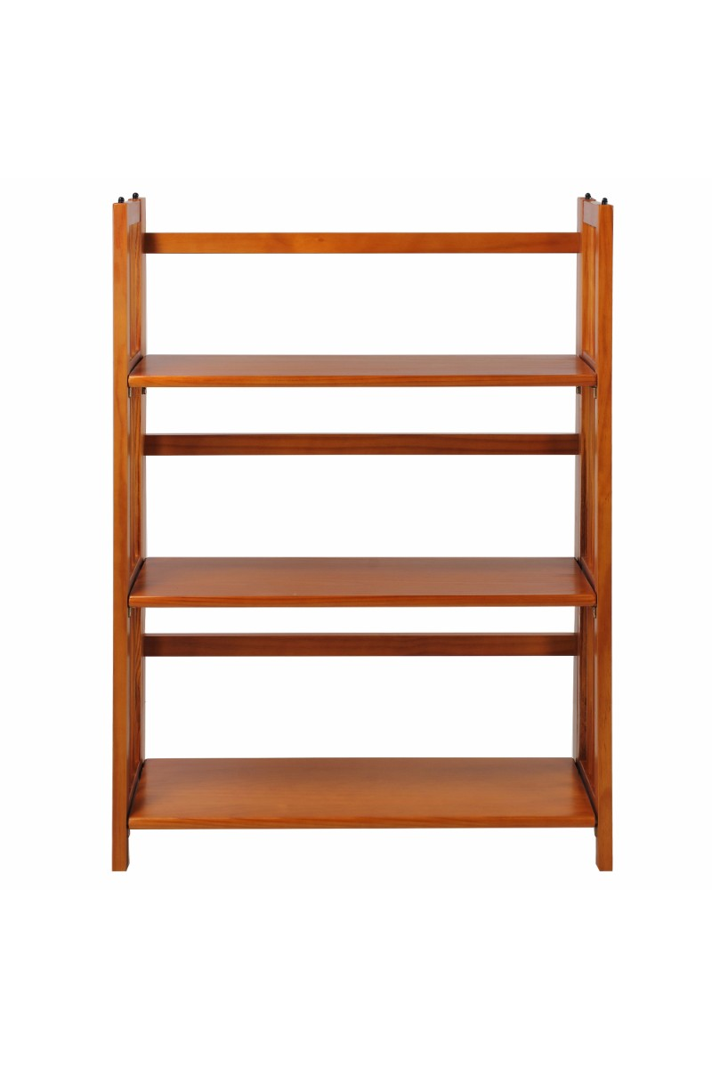 Awesome 3 Shelf Folding Stackable Bookcase 27 5 Wide Casual Home Home Interior And Landscaping Dextoversignezvosmurscom