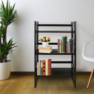 3-Shelf Folding Student Bookcase Life Style