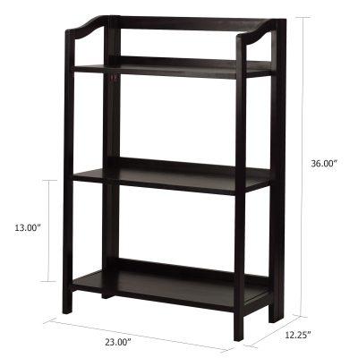 Stratford 3-Shelf Folding Bookcase Dimensions