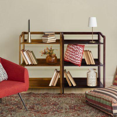 Stratford 3-Shelf Folding Bookcase life style