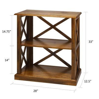 Bay View 3-Shelf Bookcase Dimensions