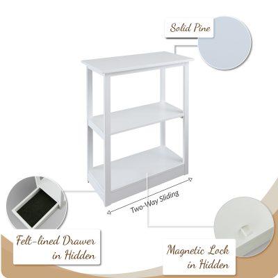 Secret Compartment Furniture - Adams Bookcase