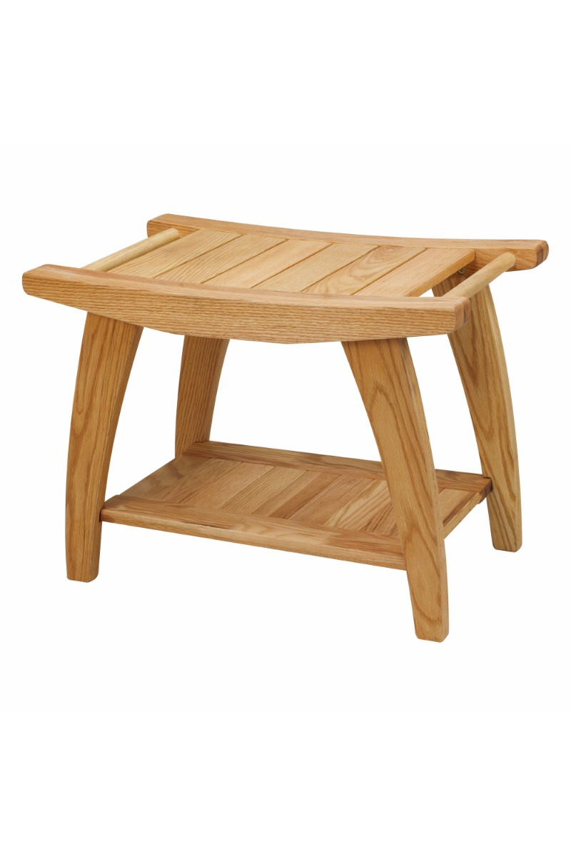 . Tao Shower Bench with Solid American White Oak   Casual Home