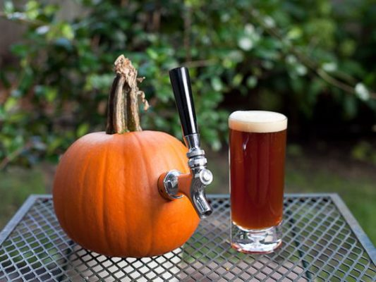 pumpkin beer ready for fall
