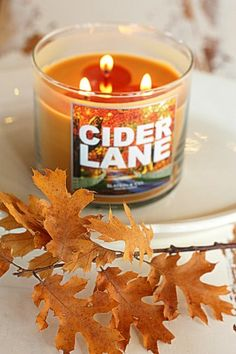 fall style candles