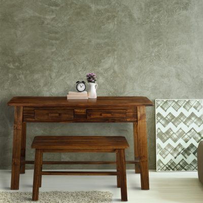 Nostalgia Rustic Desk with Bench Life Style