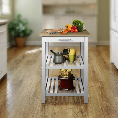 Sunrise Kitchen Island with American Maple Top Life Style