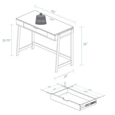 Neorustic Smart Desk Dimension