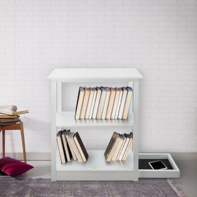 Hidden Compartment Shelf - Adams 3-Shelf Bookcase
