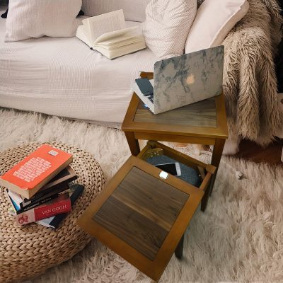 Lincoln Nesting End Tables with Concealed Compartment Life Style