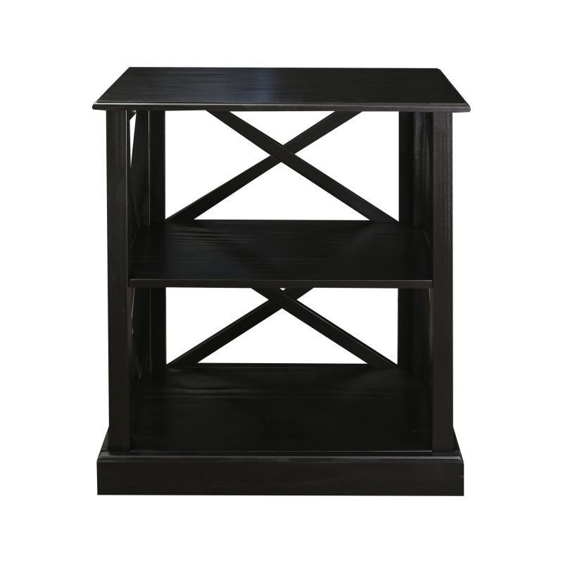 Jackson 3 Shelf Bookcase With Concealed Drawer Concealment