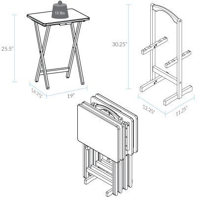 5pcs Tray Table Set