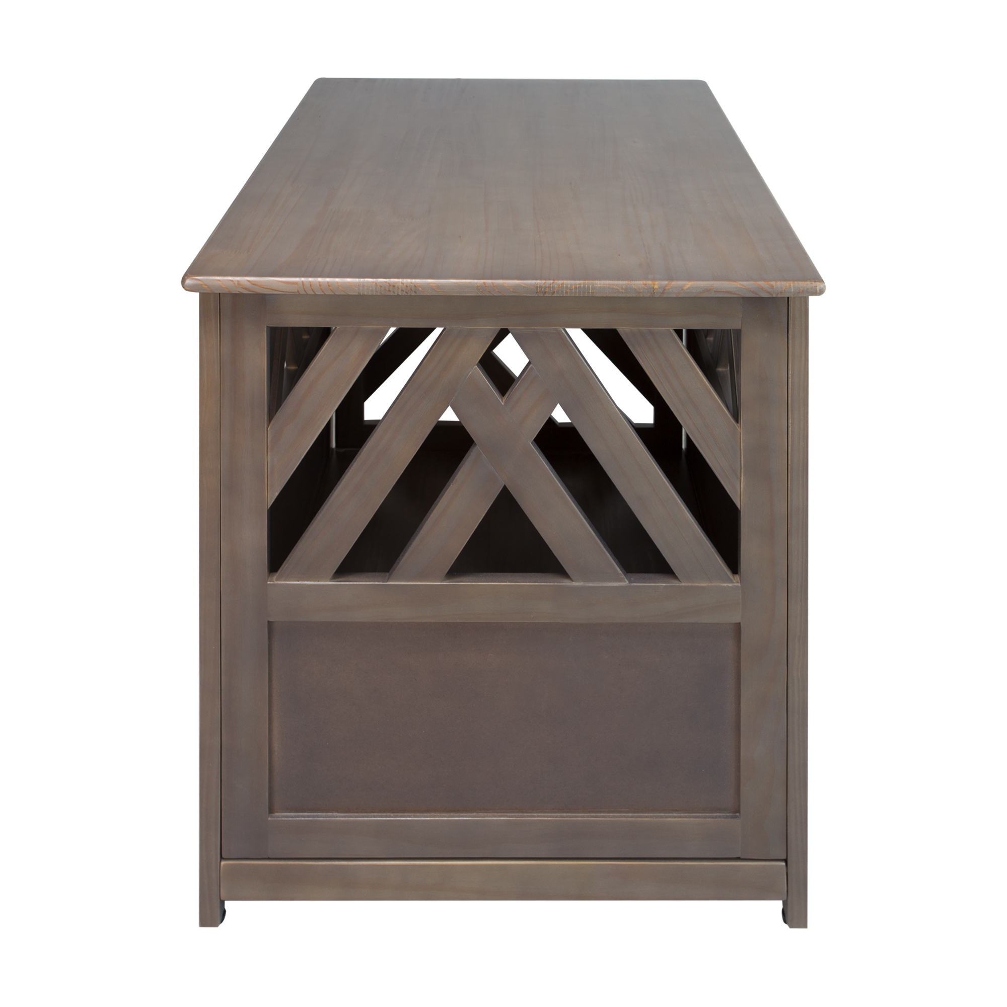 Modern Wooden Lattice Dog Crate End Table – Casual Home