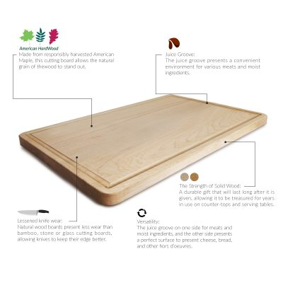 Wood cutting board features - Casual Home